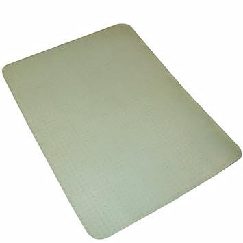 JVL Office Chair Clear Vinyl Carpet Protector Rectangular Mat with