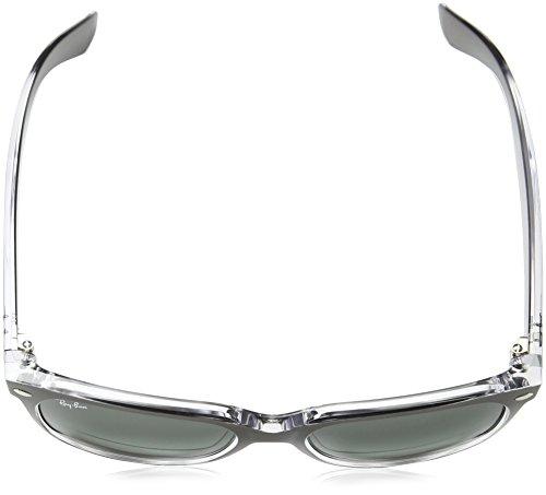 Ray-Ban RB2132 New Wayfarer Non-Polarized Sunglasses, Top Brushed Gunmetal, Dark Grey Gradient,  55 mm