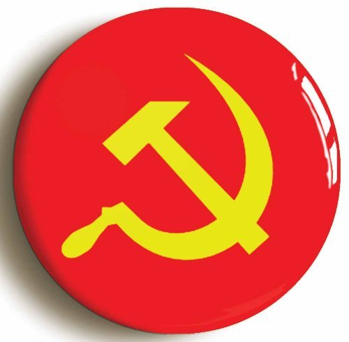 Communist Soviet Union Flag Retro Eighties Button Pin (Size 1inch Diameter) by Pin
