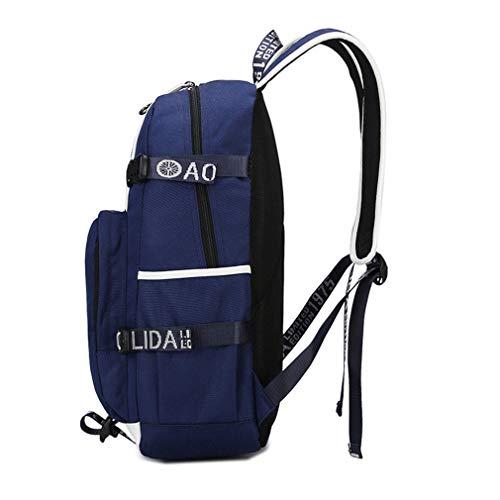 ALLDECOR Retro MiddleSchool Satchel Unisex Oxford Travel Multifunction Backpack by ALLDECOR (Image #2)