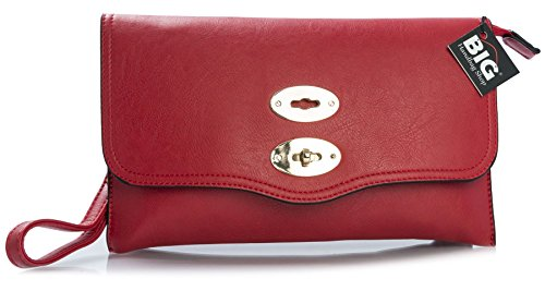 Crossbody Wristlet Vegan Soft Handbag Shop Shoulder Womens Messenger Bag Leather Small Red Designer Big Clutch zqaZPxwAx