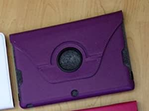 Amar® 360 Degree Rotating Litchi Grain Folio PU Leather Case Cover For ASUS MeMo Pad Smart ME301T 10.1'' (purple)