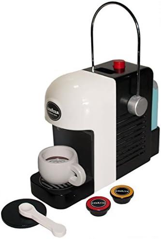 Tanner 0994.1Lavazza macchina da caffè,originale in legno con realistico gioco funzioni, colore: bianco