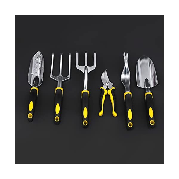 SONGMICS-7-Piece-Garden-Tool-Set-Includes-Garden-Tote-and-6-Hand-Tools-W-Heavy-Duty-Cast-aluminum-Heads-Ergonomic-Handles-UGGB31L