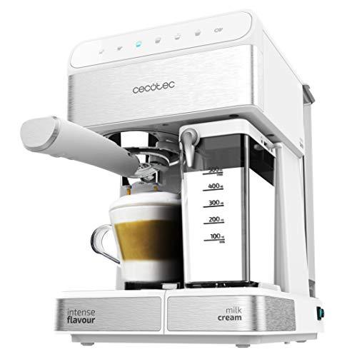 Cecotec Power Instant-ccino – Cafetera Semiautomatica, Touch Serie Bianca, Presión 20 Bares, Capacidad de 1,4l, 6…