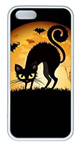 Halloween Cat Ghosts Mice TPU White DIY iphone 5S covers for Apple iPhone 5/5S by Maris's Diary