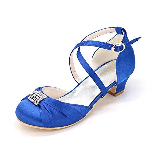 Chaussures Chaussures Mariage Chaussures Fille De L à L'éTé YC SoiréE Et De Confortables D'éTé De Marche Robe Danse Pour SoiréE Fille De blue Confortable nFqxARAYw