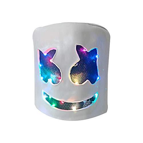 Xhren.66 LED Colorful Latex DJ Mask Helmet Halloween