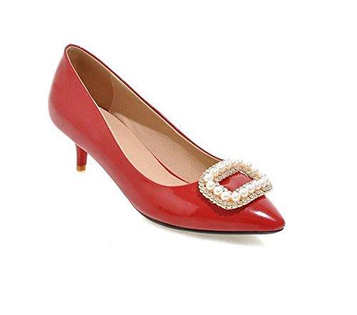 XIE Zapatos de Tacón Alto de la Boda del Corte de los Zapatos de la Boda, Red, 43 RED-40