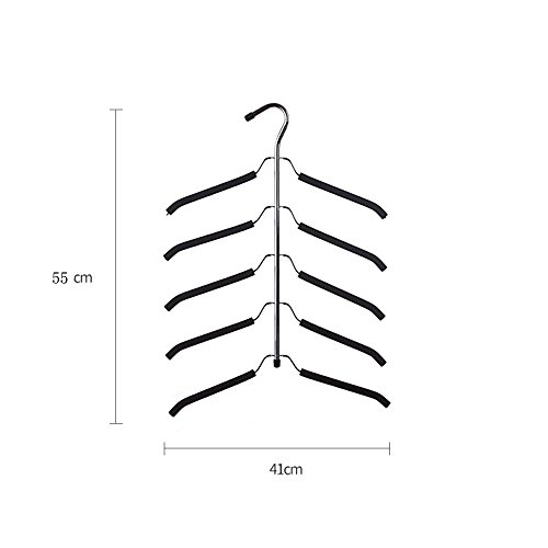 YUREN Friction Blouse Tree Hangers Coat Hangers Organizer -- 5 layers Shirt Hangers (pack of 1)