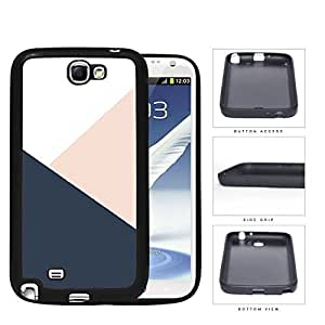 Navy Blue And Pink Geometric Rubber Silicone TPU Cell Phone Case Samsung Galaxy Note 2 II N7100