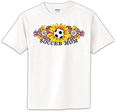 Soccer Mom with Flower Short Sleeve Tee T-shirt Tshirt