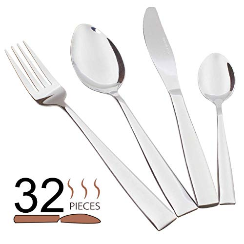 Silverware Set Service for 8, 32-piece Stainless Steel Flatw