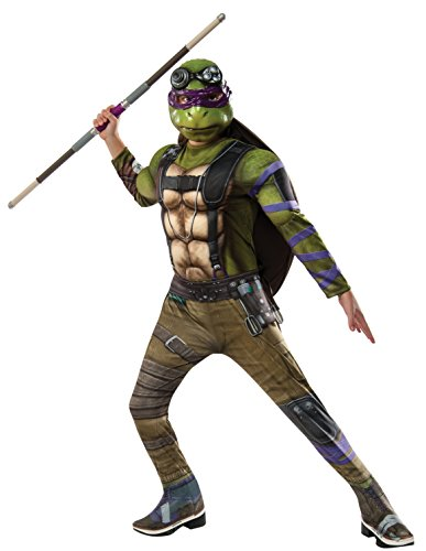 Rubie's Costume Kids Teenage Mutant Ninja Turtles 2 Deluxe Donatello Costume, Medium (Ninja Turtles Costume For Women)