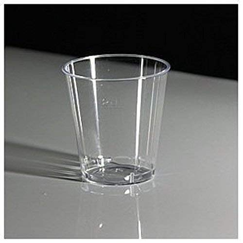 LINED at 2CL CE MARKED 50 x Disposable Plastic 1oz 30ml Jelly Shot Glasses