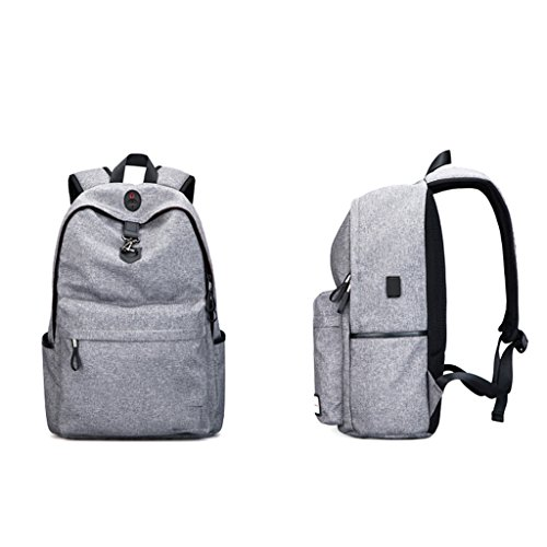 LWT - borsa a tracolla degli uomini per lo zaino di viaggio per il tempo libero computer borse studente universitario studenti delle scuole superiori tendenza moda (30 * 46cm) (grigio)