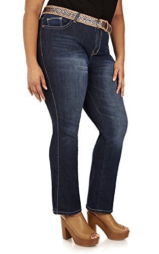 Belted Bootcut Jeans - 8