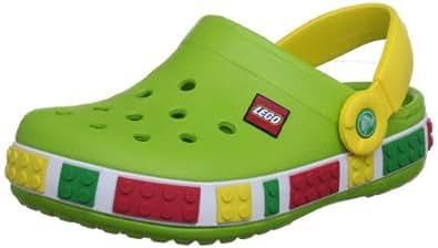 Crocs 12080 CB LEGO Clog (Toddler/Little Kid),Volt Green/Yellow,4 M US Toddler