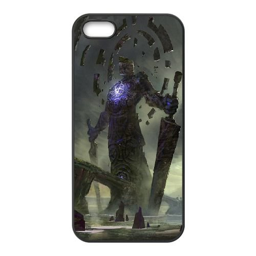 Giant Sword coque iPhone 5 5S cellulaire cas coque de téléphone cas téléphone cellulaire noir couvercle EOKXLLNCD23900