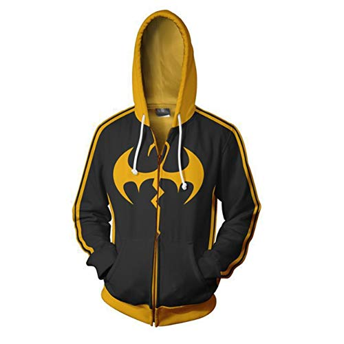 HPY Iron Fist Hoodie Danny Rand Cosplay Costume Jacket Christmas Halloween,M