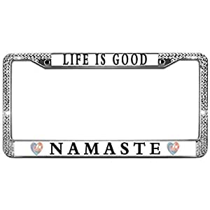 Amazon Com Meeingbing Life Is Good Namaste Crystal