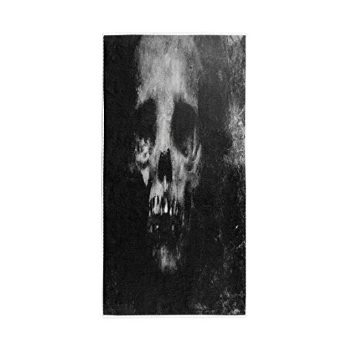 Pinbeam Bath Towel Zombie Scary Halloween Spooky Skull Face Death Effect Towel Beach Towel