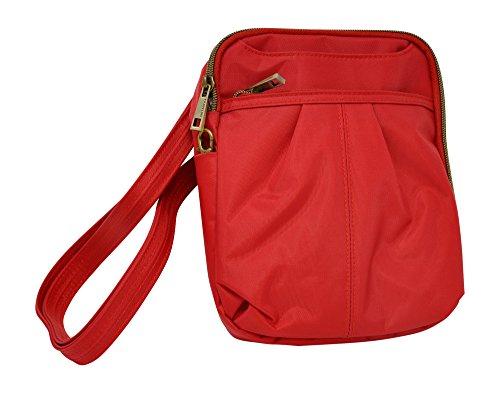 Travelon Anti-Theft Signature Slim Day Bag (One Size, Poppy)