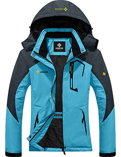 GEMYSE Women's Mountain Waterproof Ski Snow Jacket Winter Windproof Rain