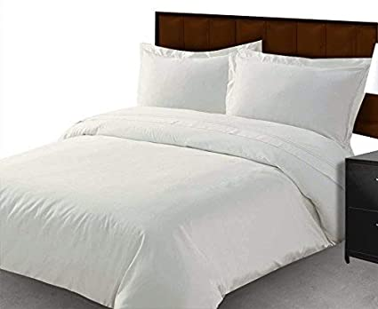UK King Size White Solid 20 cm Deep Pocket by Scala Egyptian Cotton 1000 Thread Count 4Pc Bed Sheet Set