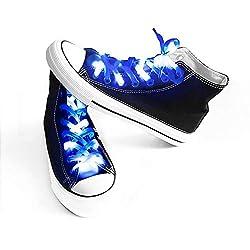 Blue Shoelaces with 3 Flashing Modes Lighting