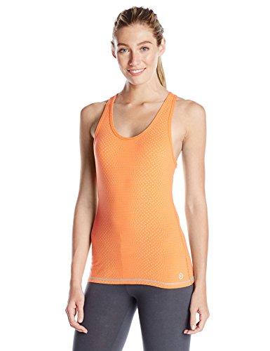 Organic Cross Back Tank - tasc performance women's core racer back tank running yoga fitness printed moisture wick shirt, large, nectarine dot