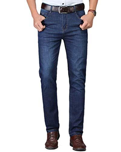 Regular Stil3 Nne Especial Dritto Uomo Ufige Lavoro Fit Estilo Jeans Da Ricamo Pantaloni Dritti R5zwOzq