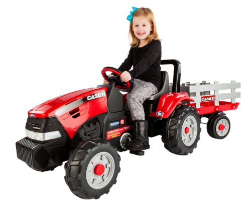 Peg Perego Case IH Tractor and Trailer (Power Wheels Tractor compare prices)
