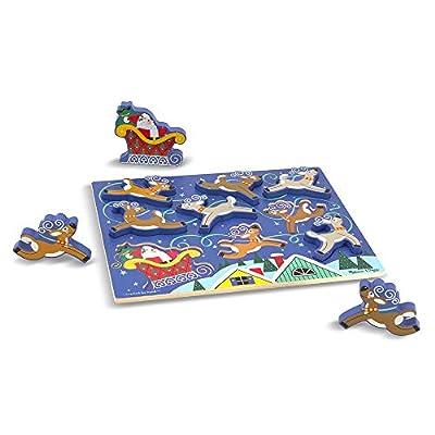 Melissa & Doug Santa's Sleigh Chunky Puzzle: Melissa & Doug: Toys & Games