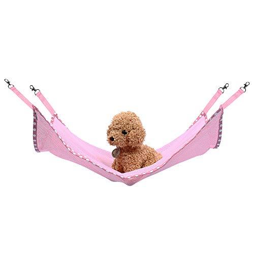 Petneces Cat Hanging Hammock Bed Pet Cage Hammock Summer Mesh Mat for Small Animals - Tent Ferret Hammock