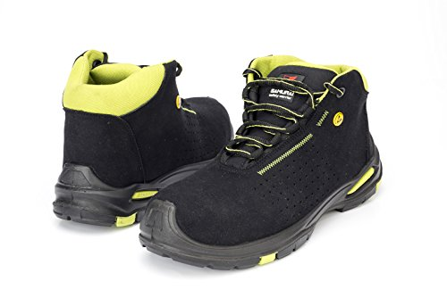Samurai 1035248009Paar Schuhe Hohe Topaz S1P SRC ESD, schwarz/grün, 47
