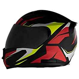 STEELBIRD HELMET SA-1 AVIATE MATT BLACK/RED 600mm SMOKE VSR