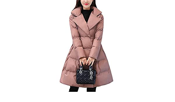Aehoor Womens Long Down Jacket Winter Warm Jacket Super Light Coat Coat90/% White Duck Down