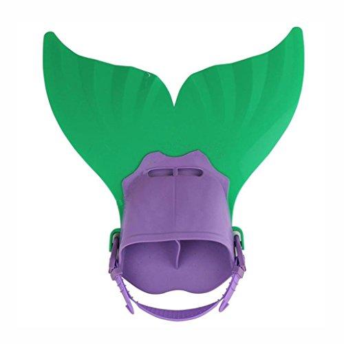 Coohole 2018 New Mermaid tails Swim Fins for Children Swimming Girls Boys (Green)