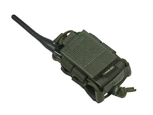M.O.L.L.E pouch bag Radio Phone GPS tactical molle (Olive OD Green)