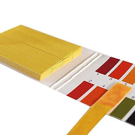 lpattern tiras de prueba de pH, Full PH 1 - 14 prueba Indicador Tornasol papel tiras Tester para Saliva Prueba De Orina De Agua Del Suelo 5 paquetes (80 ...