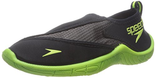 Speedo Kids Surfwalker Pro 2.0 Water Shoes (Little Kid/Big Kid), Black/Yellow, 5 US Big Kid