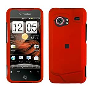 Premium Orange Rubberized Snap-On Cover Hard Case Cell Phone Protector for HTC Droid Incredible