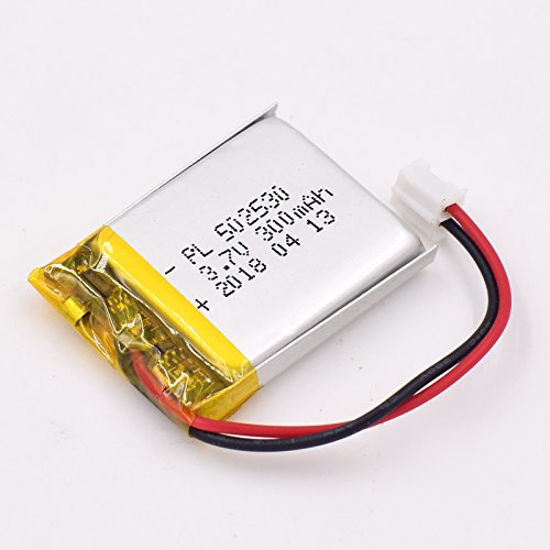 3.7V 300mAh 502530 Lipo battery Rechargeable Lithium Polymer ion Battery Pack with JST Connector