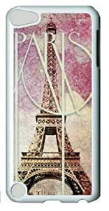 Girly Pink, Purple Damask Eiffel Tower, Paris Ipod Touch 5 Hard Shell with Transparent Edges Cover Case by Lilyshouse hjbrhga1544
