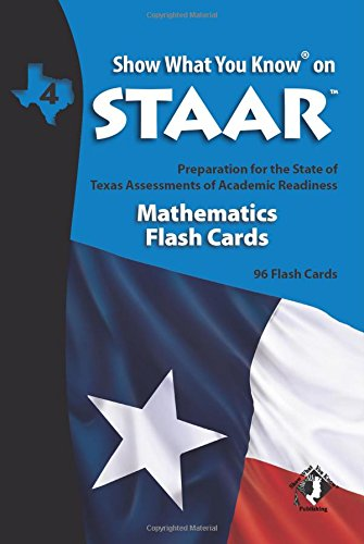 SWYK on STAAR Math Flash Cards Gr 4 (Show What You Know on Staar)
