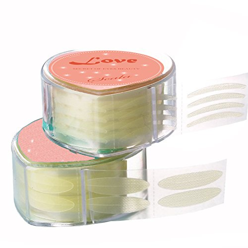 600 Eye (Scala Pro 600 Pcs by a Box Makeup Breathable Eyelid Tape Big Eye Decoration Invisible Fold Eyelid Shadow Sticker Double Eyelid Tape Tool(with Fork rods)(Slim))