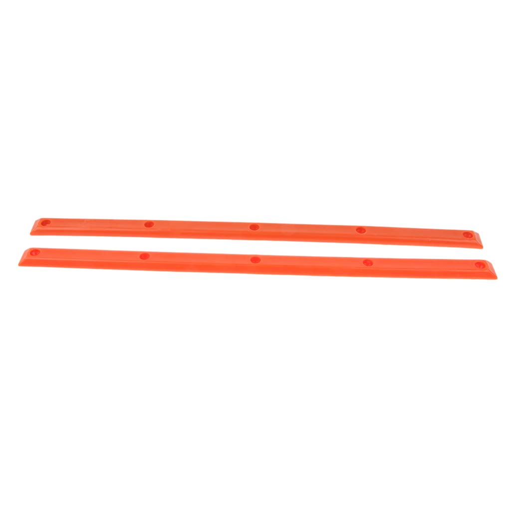 SM SunniMix 1 Pair Longboard Skateboard Rails with Mounting Screws Set Accessories Reduce Friction