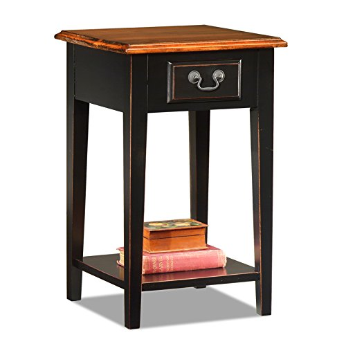 Leick Shaker Square End Table, Slate Black ()