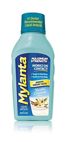 Mylanta Antacid and Gas Relief, Maximum Strength Formula, Vanilla Caramel Flavor, 12 Fluid Ounce